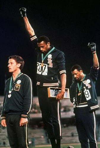 Bob Beamons protest against rasism, 1968 Olympics. This is one of my personal favourite images. To openly protest against any form of oppresion is a noble thing to do. Therefore I raise my fist today against the oppresion of freedom and information.