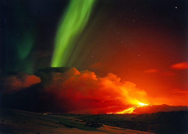 Hekla Northern Lights