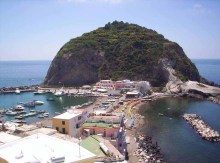 Photograph showing Sant Angelo D'Ischia, another resurgent dome from a flanking vent.