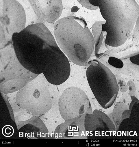 One of Birgit's SEM images of material from El Hierro