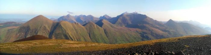 Fig 1: The Snowdon Massif (Wiki Commons, http://en.wikipedia.org/wiki/File:North_snowdonia_panorama.jpg)