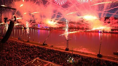 Fireworks in Linz 2011