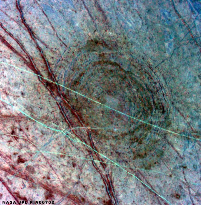 Europa impact crater
