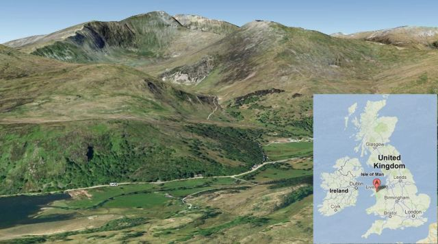 Snowdon using Googleearth by Karenz