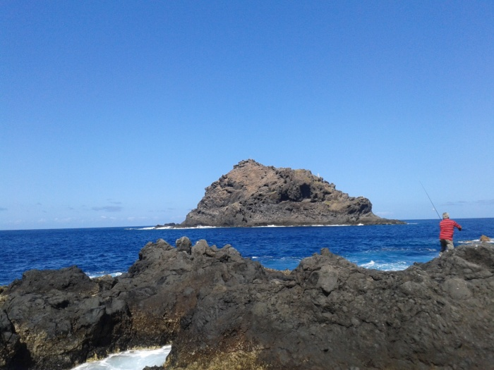 Image by author, The little volcanic island in a distance from the coast in Garachico.