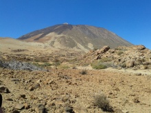Teide with phonolite inthe foreground. Image by Author.