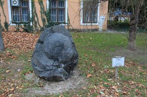 Image Wikimedia Commons. A Lavabomb which is now on display in the garden of the museum of Mödling.