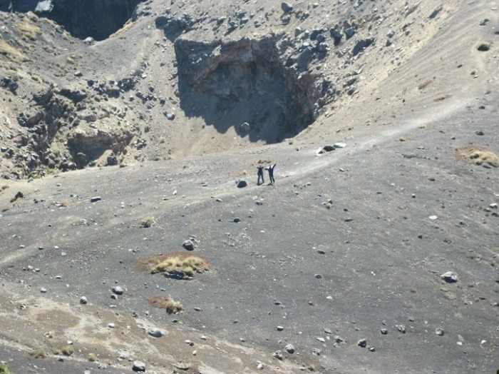 Photograph by courtesy of Dr Carmen Morataya showing the phreatic crater of Acatenango.