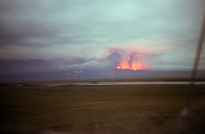 Photograph by Eggert Norddahl under exclusive right to Volcano Café. Hekla 1980 eruption.