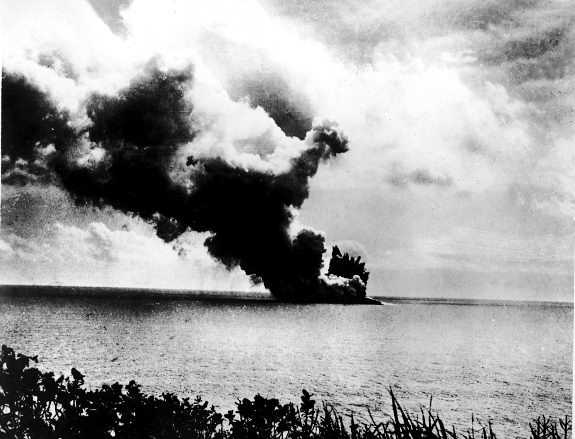 Rare historical picture of the rebirt of Krakatau. Here we can see when the new volcano, Anak Krakatau, comes out of the water. Not the best place to sail over.