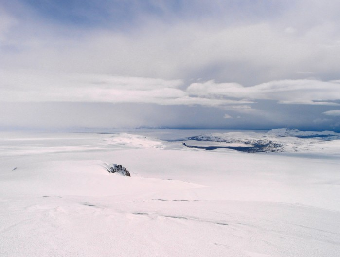Photograph from fva.is The photograph is taken from the top of Thordharhyrna towards Sidujökull.