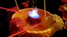 Flaming Volcano, the drink of choice for any true volcanoholic.