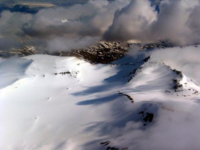 Hofsjökull glacier.