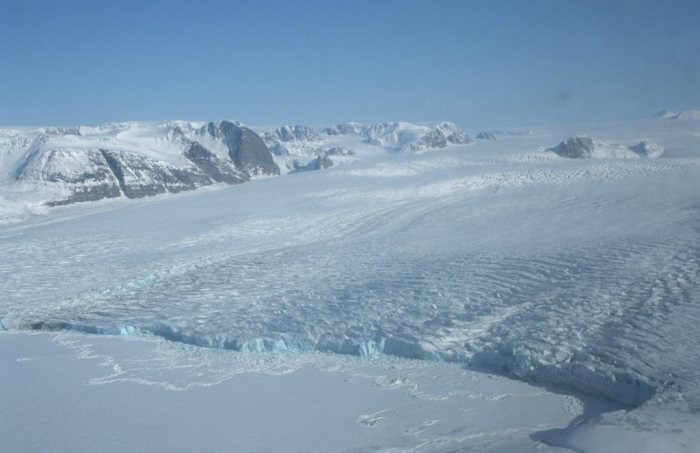 One of the main glaciers at Svalbard in Spitsbergen.