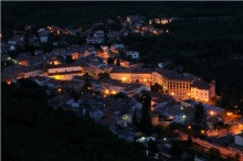 """Fig 1. """"Roccamonfina di notte"""", the medieval town of Roccamonfina at night (Enzo Merlino)"""
