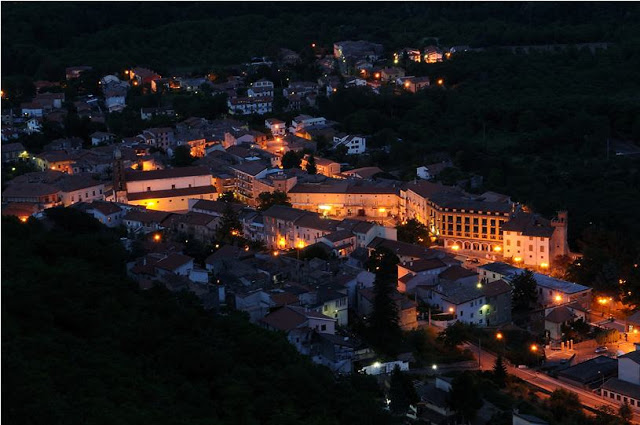 "Fig 1. ""Roccamonfina di notte"", the medieval town of Roccamonfina at night (Enzo Merlino)"