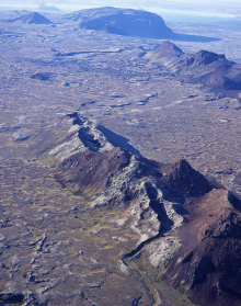 One of the less famous parts of Icelands tectonic fissure system.