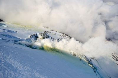 Fumaroles on Mount Chiginagak. Photograph by Steve Besserman.