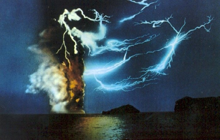 Rare image from the 1963 eruption of Surtsey.