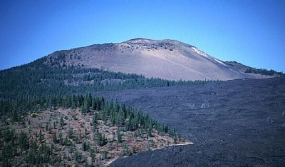 Fig 8. Belknap Crater and an associated, ca 1,500 year-old lava flow where nothing seems to grow. (mountain-forecast.com)
