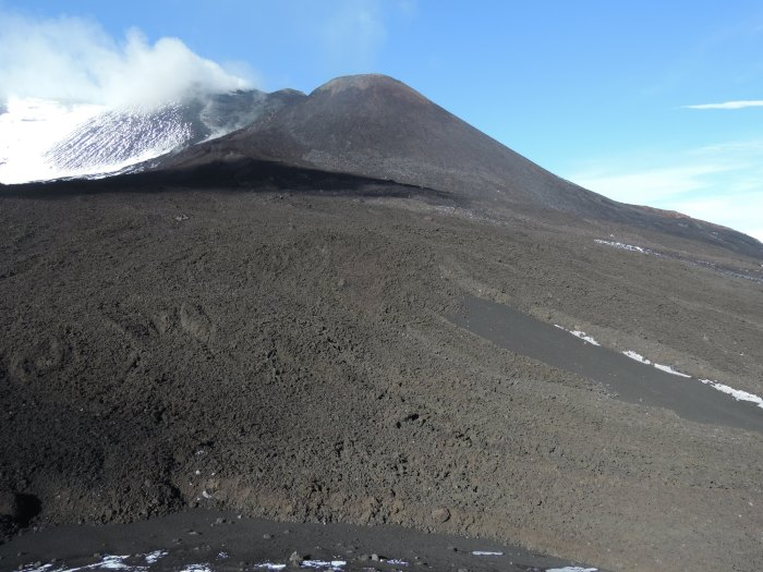 Torre del Filoso is no more, during the last Paroxysm Etna finally did away with the last vestigial part of the building. Torre del Filosofo was originally a hill, a hill now passed away. Photgrapher Dr Boris Behncke.