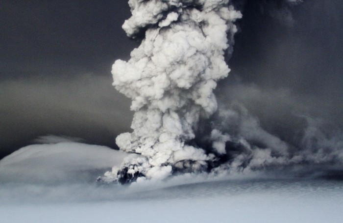 Grimsvötn 2011, the ash column that exploded out of the Glacier reached a maximum of 15 kilometers. Image copyright by International Business Times and used under fair usage.