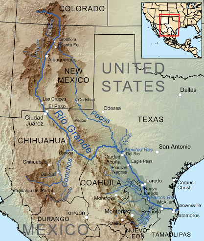 Map of the Rio Grande - http://en.wikipedia.org/wiki/Rio_Grande