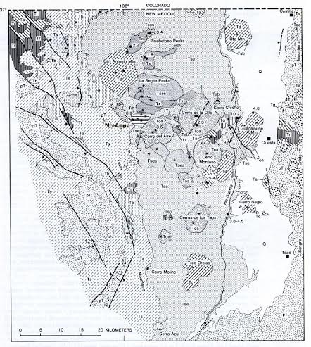 Map of Taos Plateau Volcanic Field - http://www.swxrflab.net/noaguapk.htm
