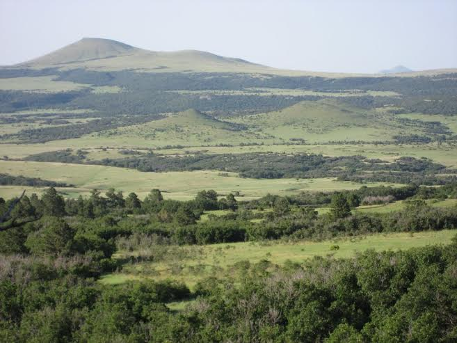 Panoramic photo of Raton – Clayton Volcanic Field - http://www.panoramio.com/photo/87435744