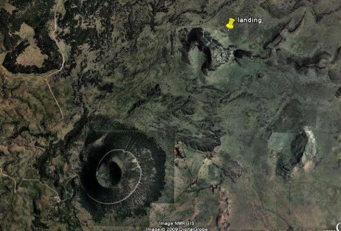 Overhead Photo of Capulin and surrounding vents - http://landingaday.wordpress.com/tag/folsom-nm/