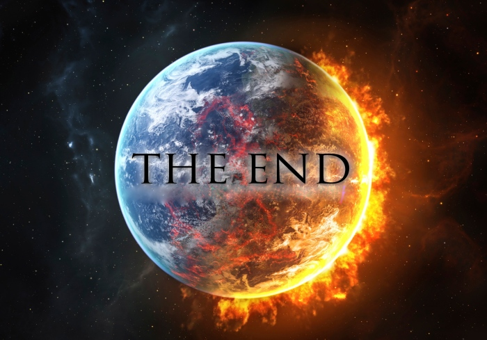 Be honest, this is how you envisage the end of the world. Of course there would be a huge sign so we are sure to not miss when it is happening.