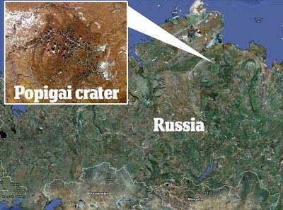 Popigai Impact Crater, Russia (Siberia). From Elite Daily