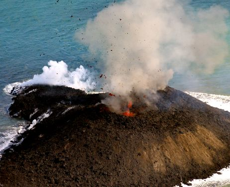 The island forming eruption of Nishinoshima, an eruption that might with time reach a VEI-rating of 3.