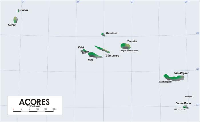 The Azores archipelago (Wikimedia Commons)