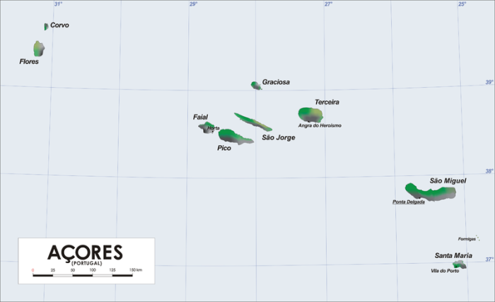 The Azores archipelago (Wikimedia Commons)