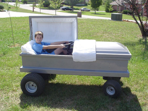 coffin-car