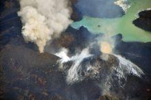 The wonderful volcanic treat of Nishinoshima. Photograph from the Japanese Coast Guard.