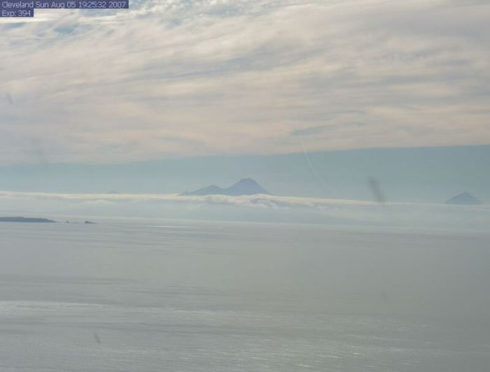 Clear day image from https://www.avo.alaska.edu/webcam/Cleveland.php ( if it works).