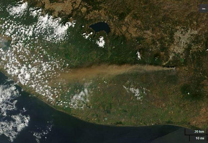 Terra/Modis (NASA) photo from yesterday