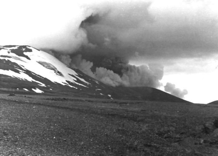 Hekla eruption 1980. Photograph from Wikimedia commons.