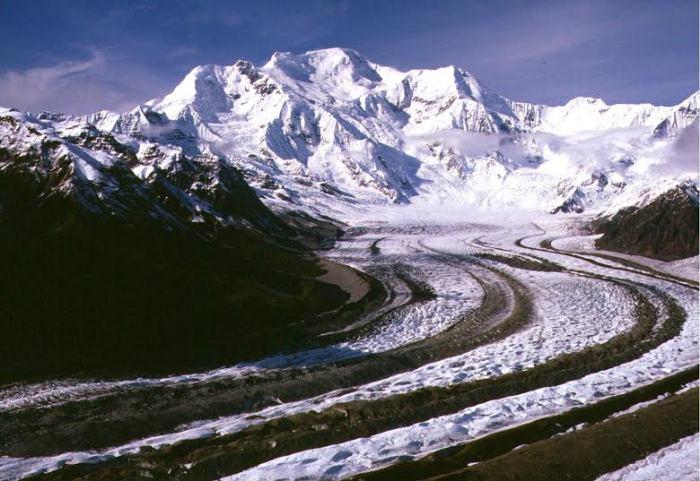 Mount Blackburn --  http://en.wikipedia.org/wiki/Wrangell_Volcanic_Field
