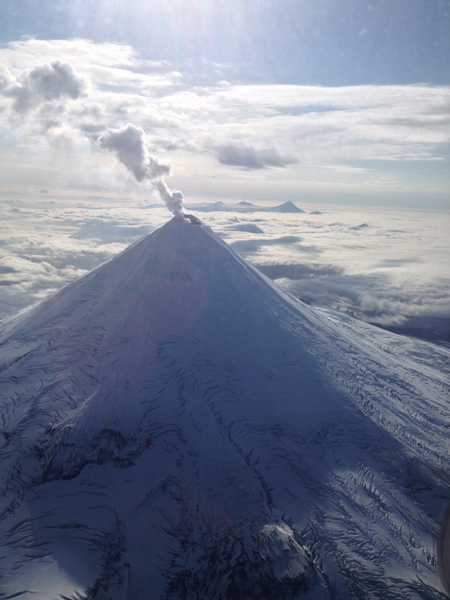 http://www.alaskapublic.org/wp-content/uploads/2014/01/Shishaldin.jpg Shishaldin Volcano with a typical steam plume, pictured on Sept. 14, 2013. Photo by Joseph Korpiewski, U.S. Coast Guard.