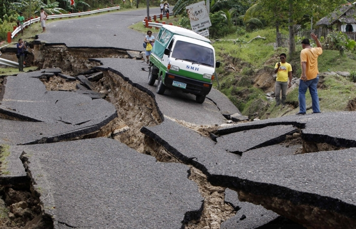 Philippines after a large earthquake.
