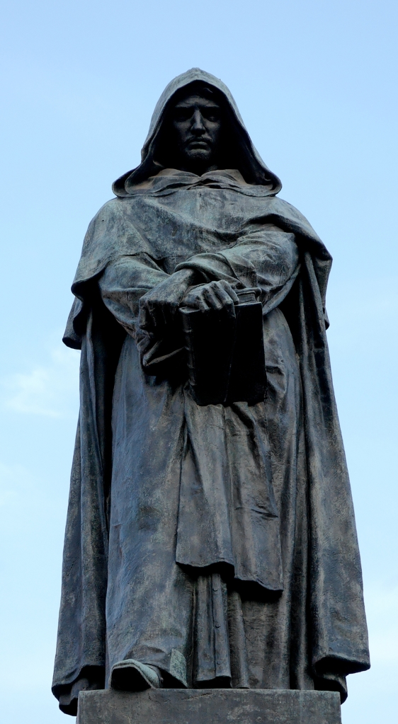 Giordano Bruno made the ultimate sacrifice for science at Campo dei Fiori.