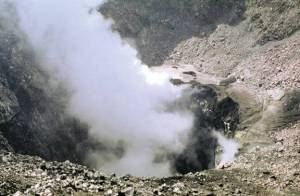 Chaparrastique, view of the internal crater.