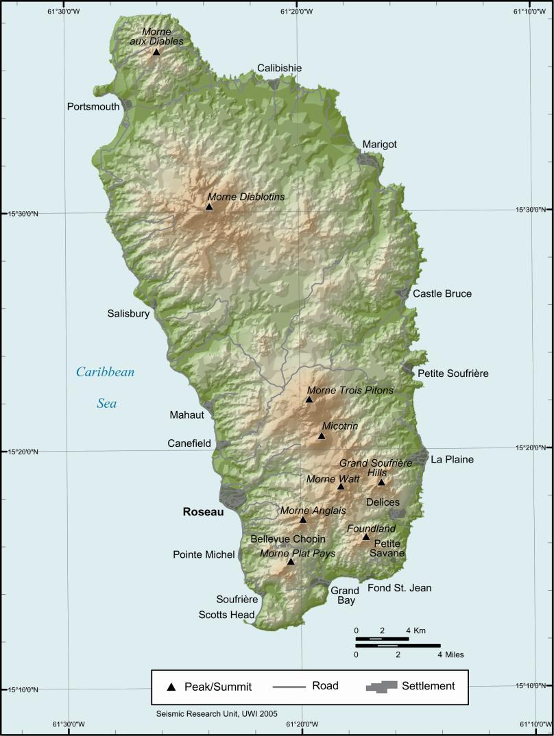 Dominica Volcanic Pearl Of The Caribbean An Overview VolcanoCafé - Dominica map hd pdf