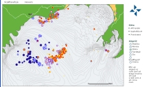 Earthquake distribution map from IMO.