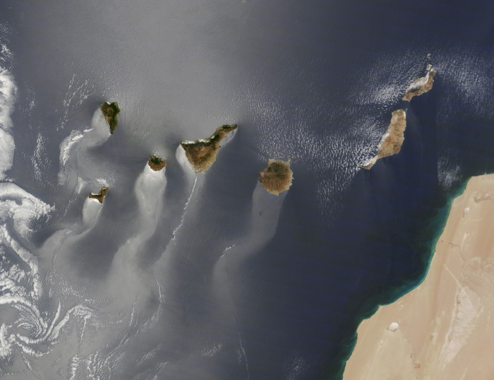 Image by NASA. Canary Islands in the Passat winds.