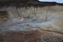 Krisuvik volcano fumaroles and mudpots.