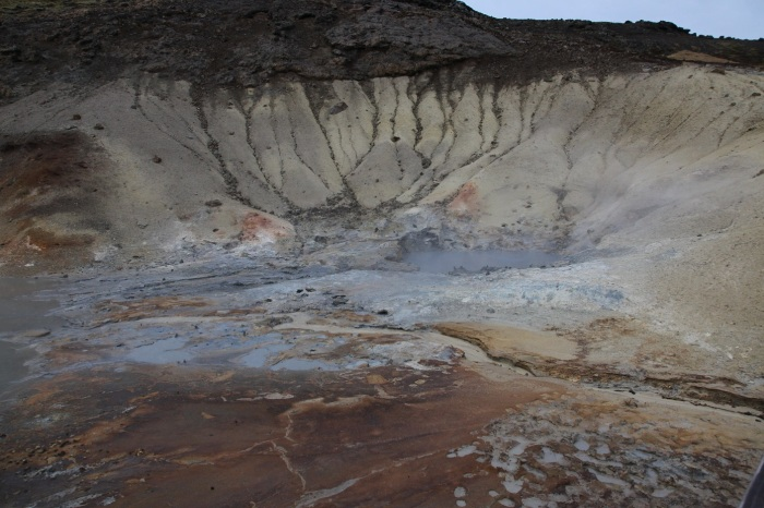 Krisuvik volcano fumaroles and mudpots.